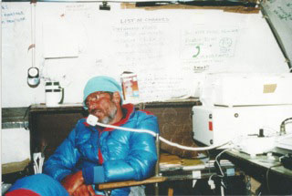 First satellite weather station Mt. Everest - 1988